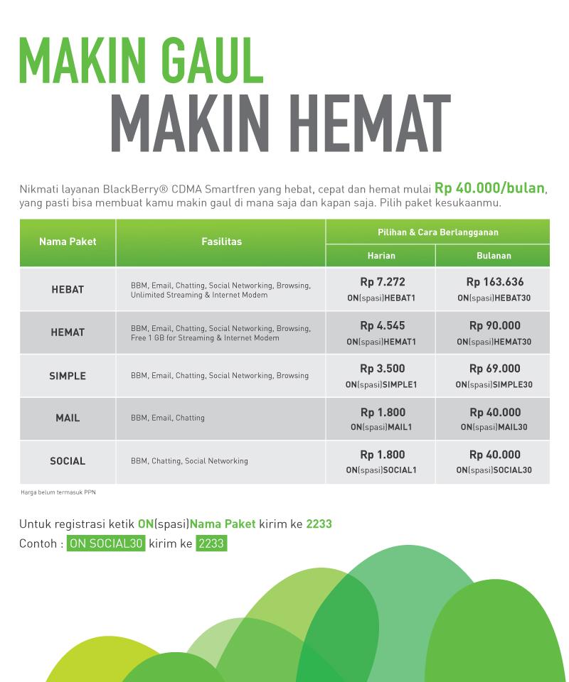 Paket bb Smartfren CARA DAFTAR PAKET BBM SMARTFREN
